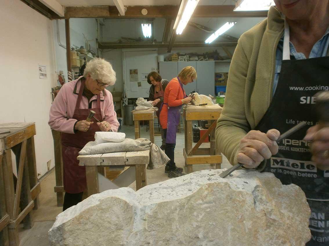 Wonderbaar Workshops Beeldhouwen - Michiel Linders - Speksteen, Albast SW-94